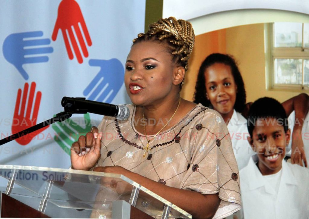 Minister of Education Nyan Gadsby-Dolly. - Ayanna Kinsale