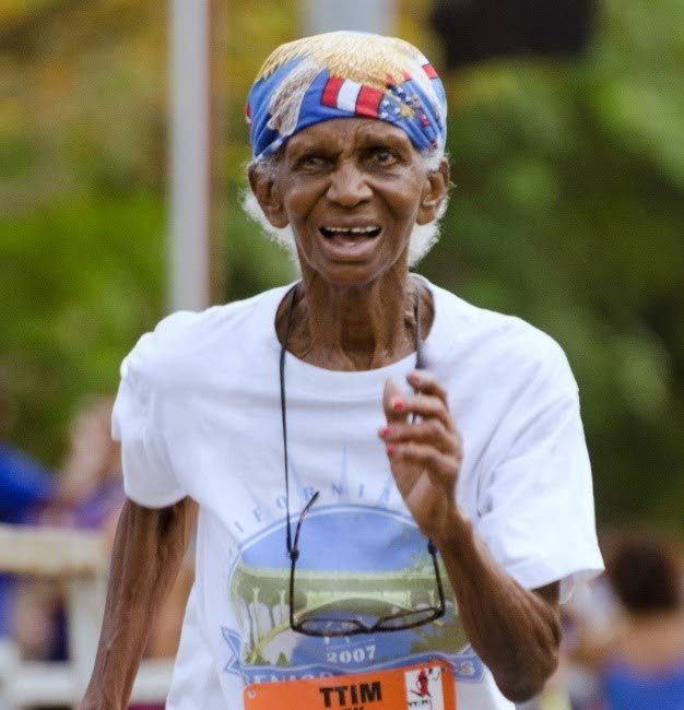 Legendary long-distance runner Lynette 'Granny' Luces. -