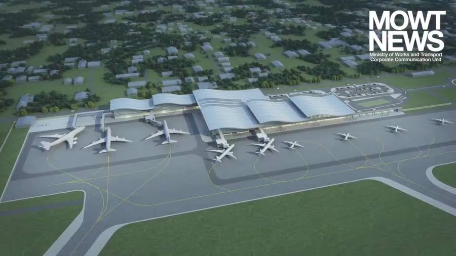A 3D look at the proposed expansion of the ANR Robinson International Airport in Tobago.  - Images courtesy Ministry of Works and Transport
