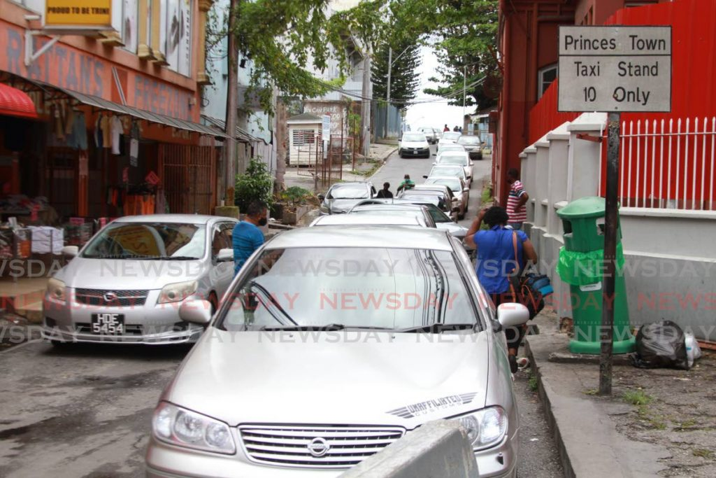 Princes Town Taxi stand, Library Corner San Fernando. - Marvin Hamilton