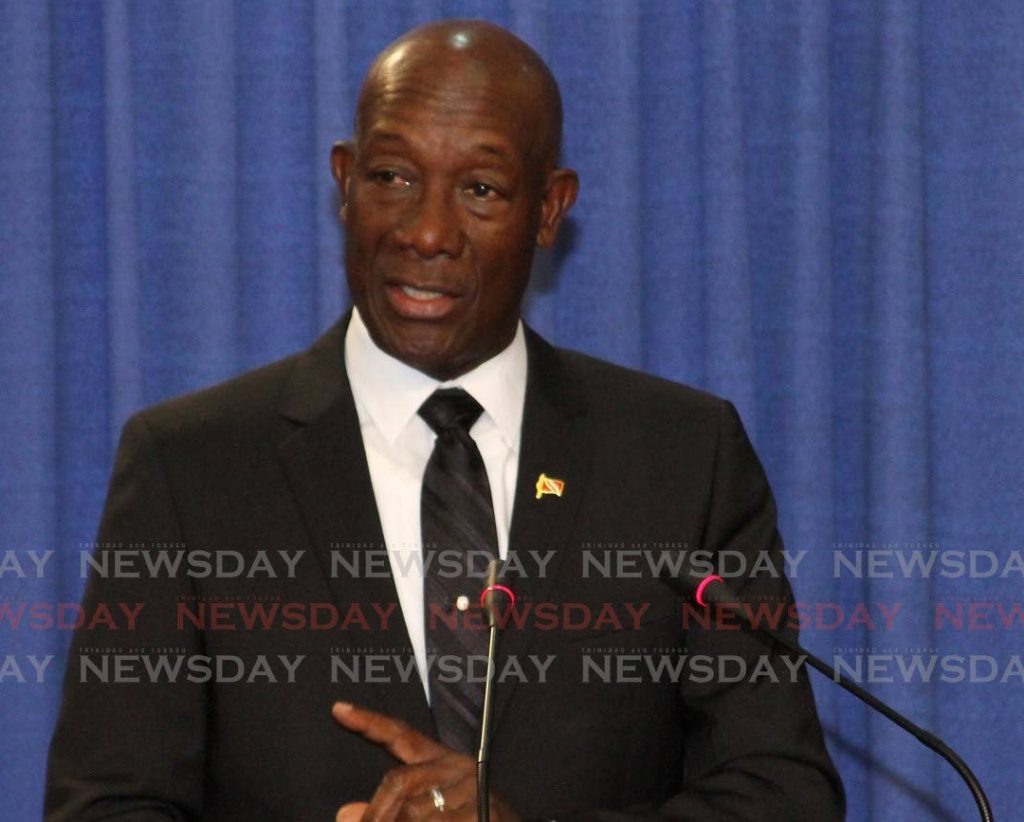 Prime Minister and Caricom chairman Dr Keith Rowley. -