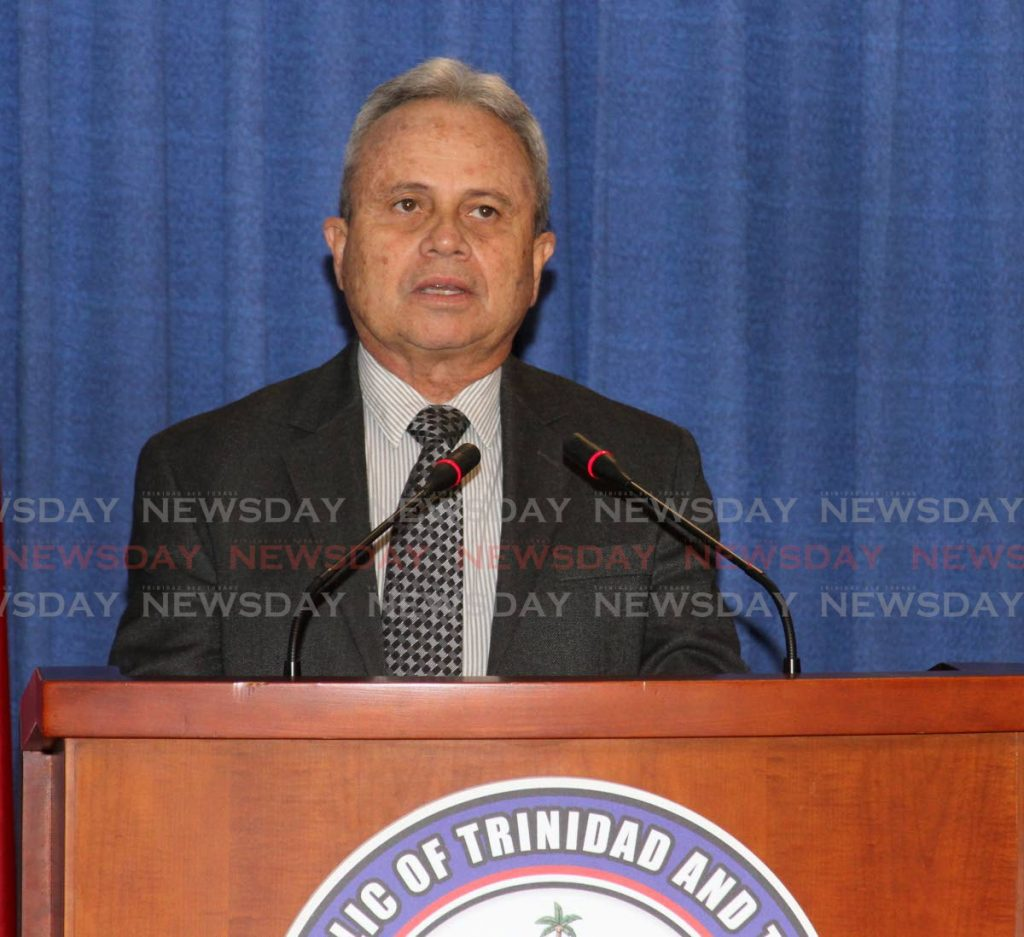 Minister of Finance Colm Imbert. -