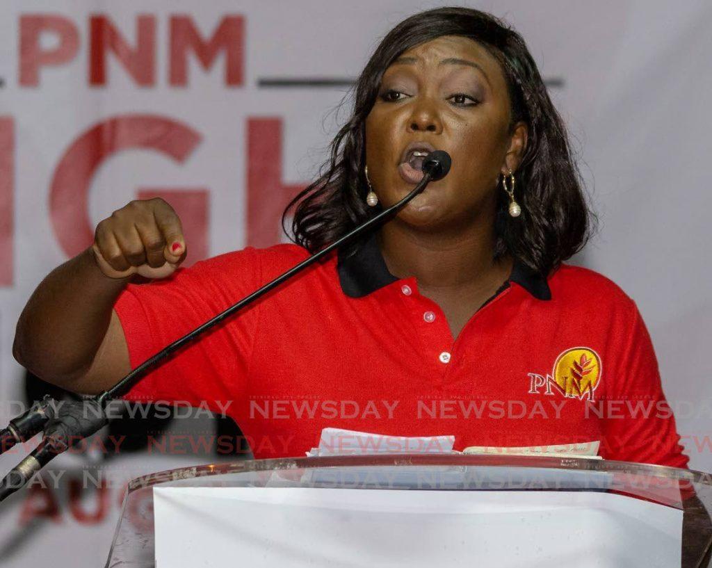 FILE PHOTO: PNM Tobago Council political leader Tracy Davidson-Celestine.