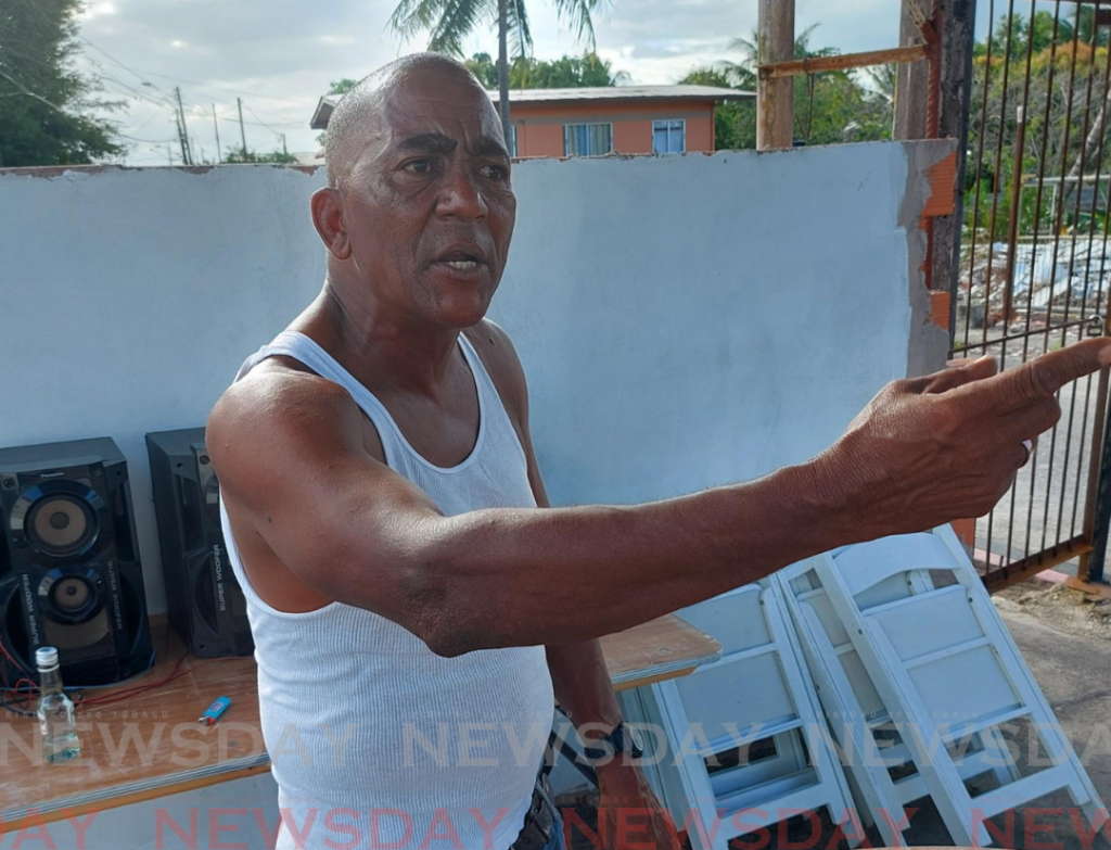 Ray Ken Raymond, 57, father of Sterling  Raymond, 26, who was shot dead by the police on Wednesday. Photo by Zainab Kamara