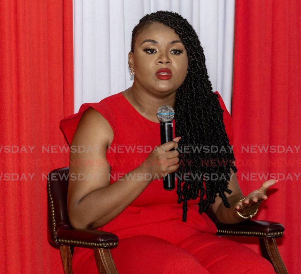 Minister of Sport and Community Development Shamfa Cudjoe . -