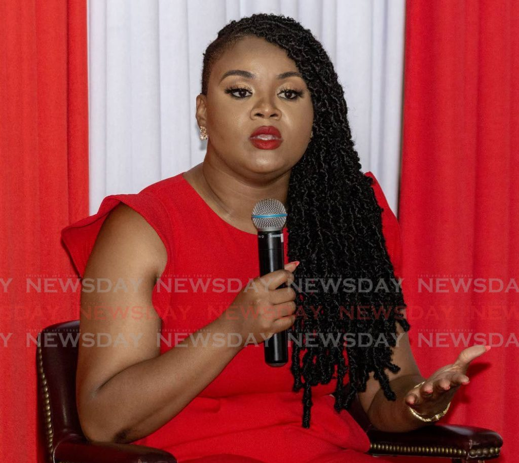Minister of Sport and Community Development Shamfa Cudjoe