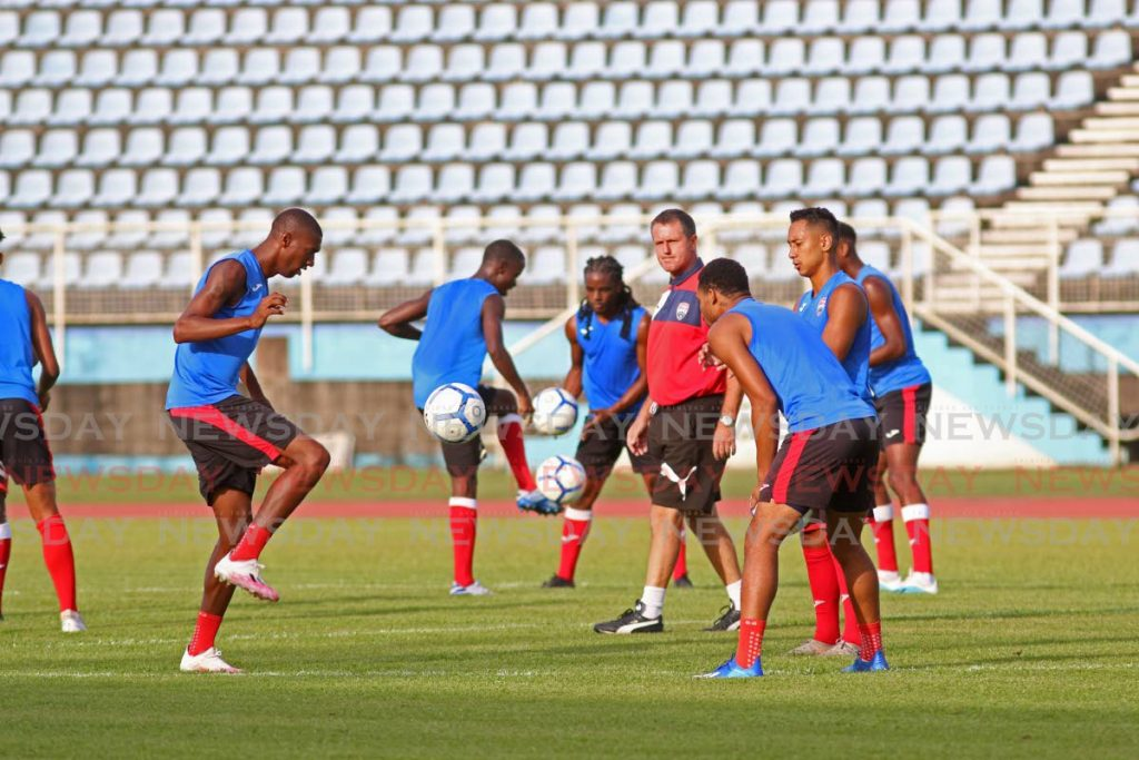 In this Jan 26 file photo, TT men's head coach Terry Fenwick looks on during a team training session at the Ato Boldon Stadium, Couva. TT face Puerto Rico, on Sunday, in their second first-round Concacaf World Cup qualifier. - Marvin Hamilton