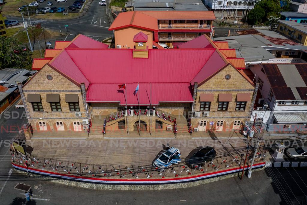 The Assembly Legislature, Scarborough is currently deadlocked at six-six. The PNM and PDP are discussing a power-sharing arrangement. PHOTO BY JEFF K MAYERS -