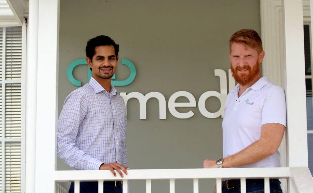 MedL co-founders Kiran Mathur Mohammed and Edward Inglefield.