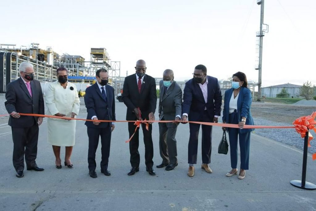 Prime Minister Dr Keith Rowley at the opening ceremony for NiQuan Energy Ltd's gas-to-liquids plant on March 14. Photo courtesy the Office of the Prime Minister.