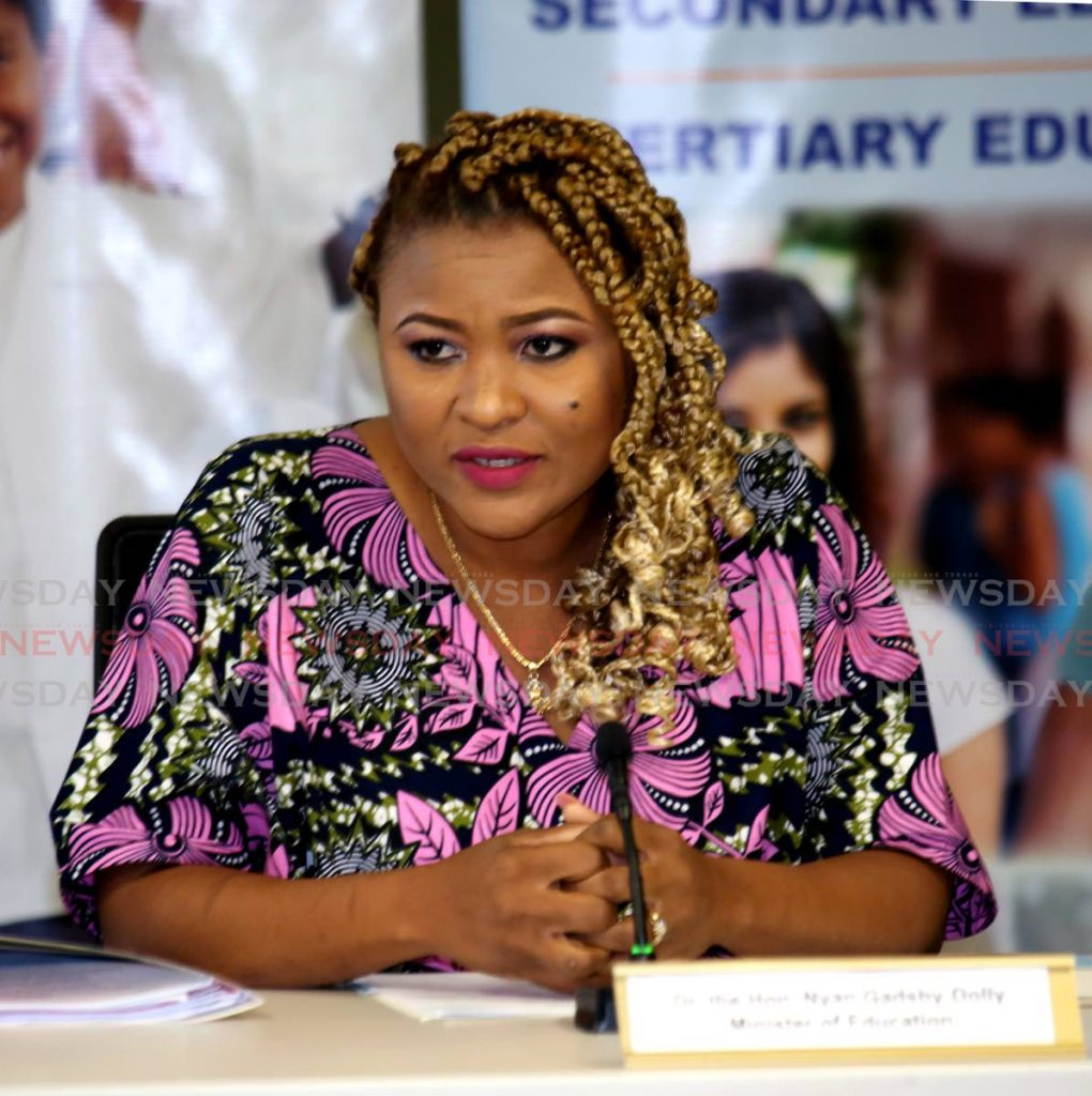 Education Minister Dr Nyan Gadsby-Dolly -