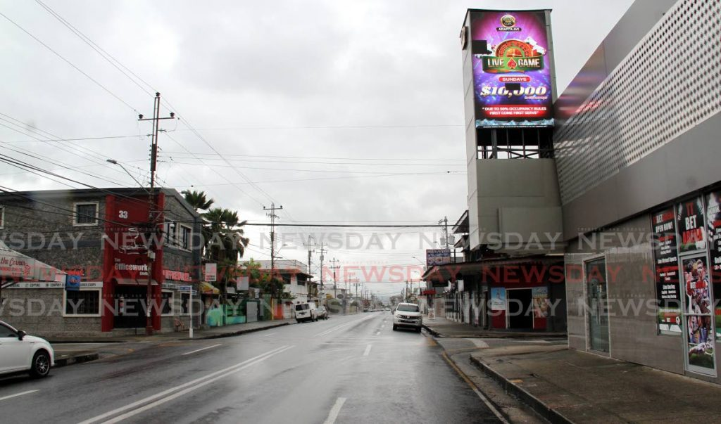 Ariapita Avenue, Port of Spain, on Sunday afternoon. - Angelo Marcelle