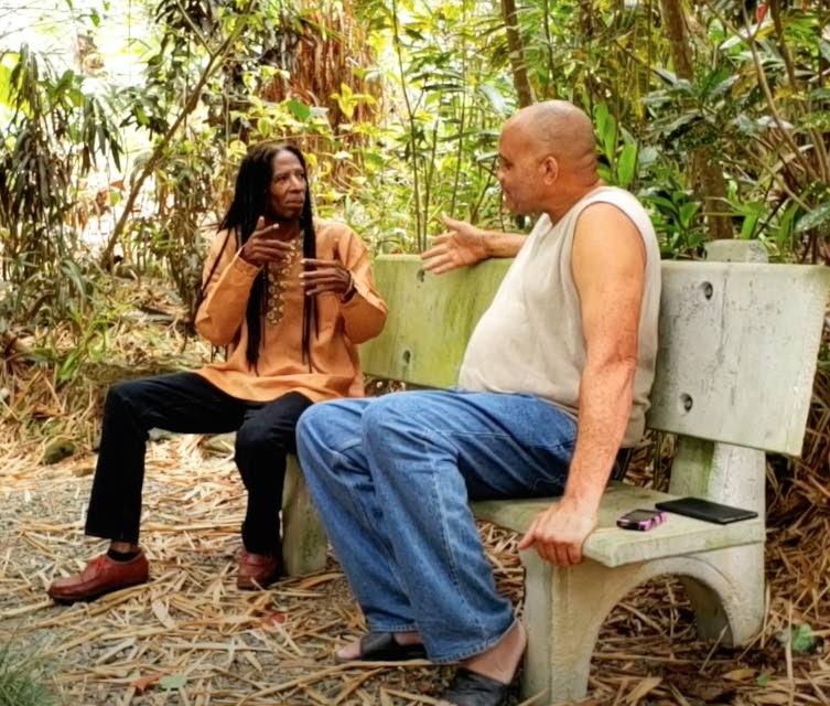 Nerukhi, left, and Marlon Brizan at the  Adventure Eco Resort. -