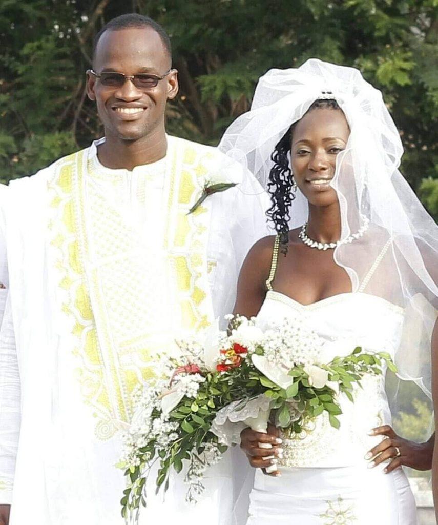 FORMER senator Taharqa Obika and wife on their wedding day. PHOTO COURTESY TAHARQA OBIKA -