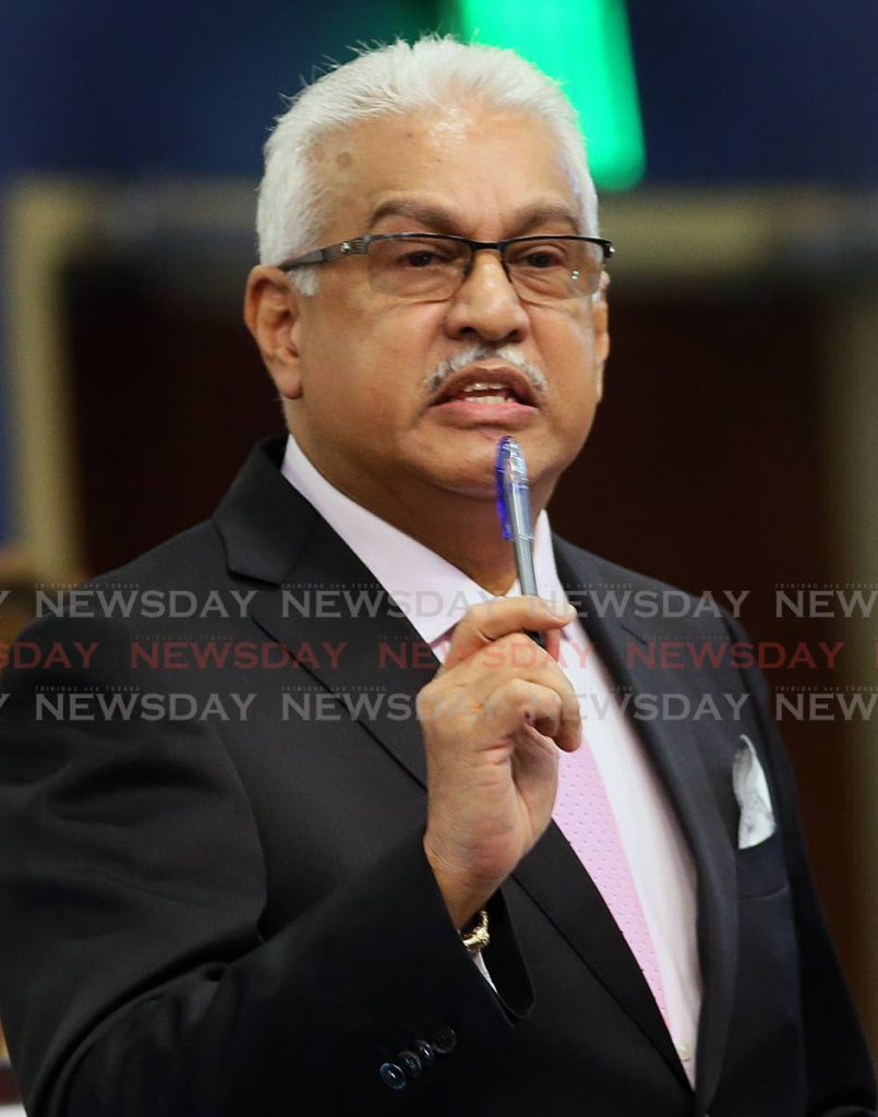 File photo: Minister of Health Terrence Deyalsingh