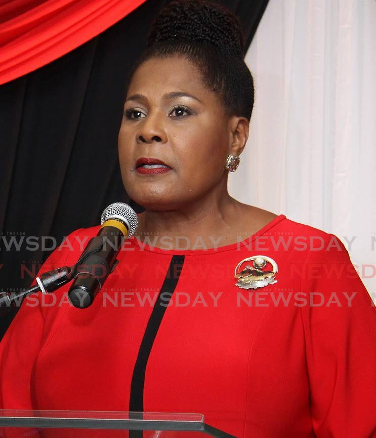 MY MESSAGE: President Paula-Mae Weekes who has called on women to stay the course in her  International Women's Day message.  FILE PHOTO -