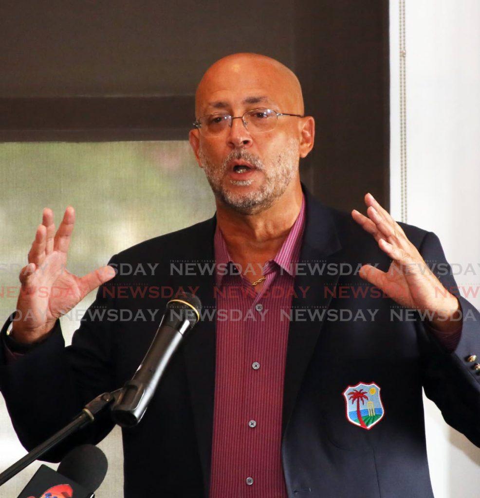 Cricket West Indies president Ricky Skerritt  -