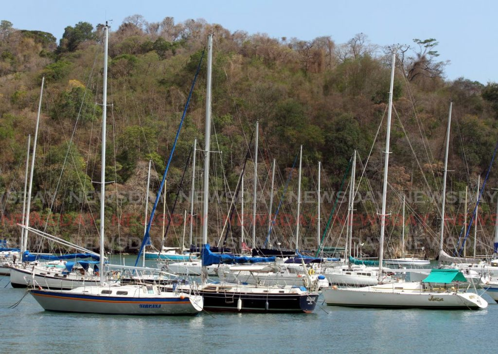 FILE PHOTO: Yachts in the waters of Carenage. -