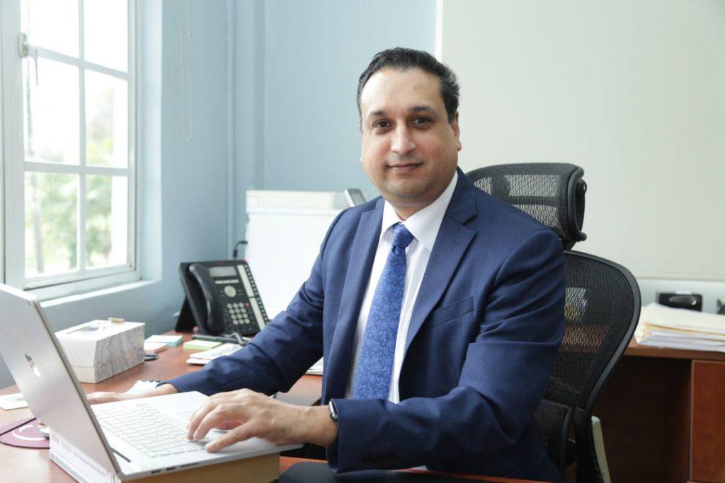 Navin Dookeran, CEO of Eximbank. -
