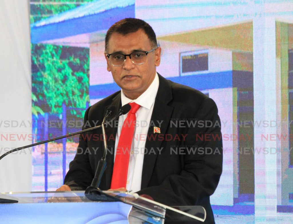 Minister of Works and Transport Rohan Sinanan.