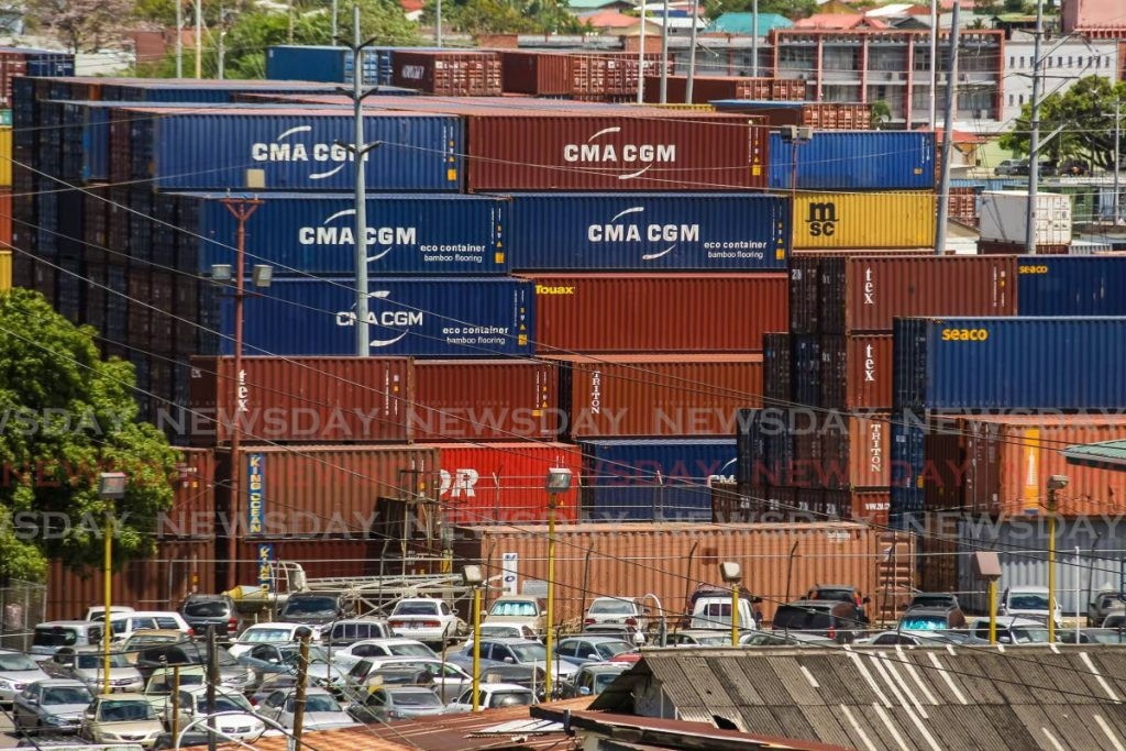 Shipping containers at the Port of Port of Spain. Shipping containers has revolutionised world trade. Photo by Jeff Mayers -