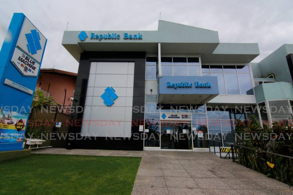 Republic Bank's branch in Rio Claro. The National Investment Fund owns 26 per cent in the Republic Bank group.  - Photo by Marvin Hamilton