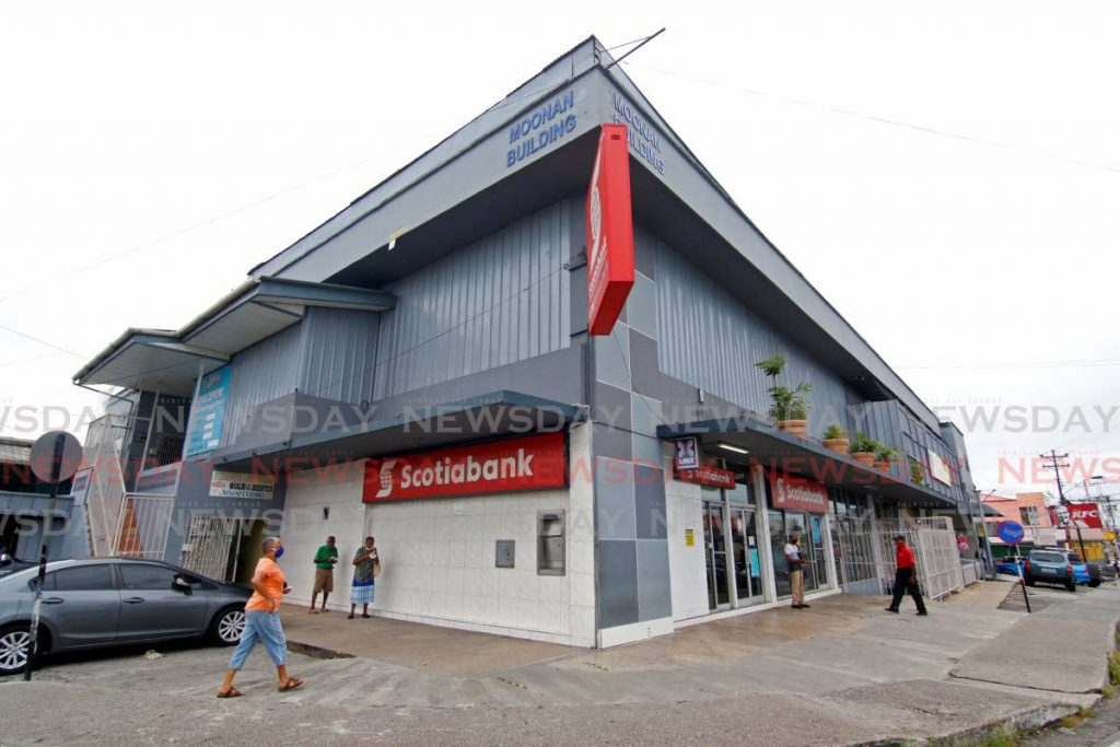 The Scotiabank Rio Claro branch office. The bank has expanded its health care benefits to include the same-sex partners of employees. - FILE PHOTO