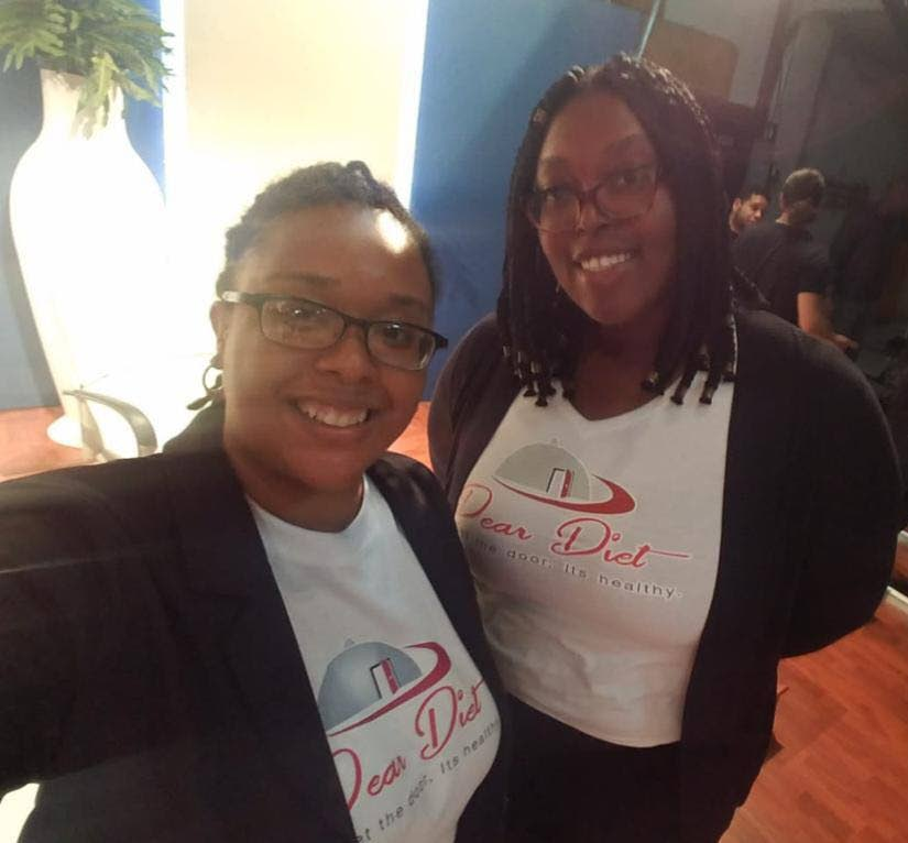 Dear Diet Enterprises owners Shanice Charles, left, and Shenee Winchester. -