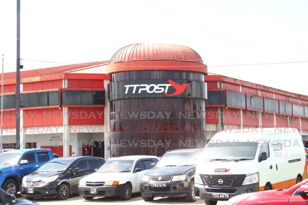 The head office of Trinidad and Tobago Postal Service (TTPOST), Golden Grove Road, Piarco.  Photo by Roger Jacob
