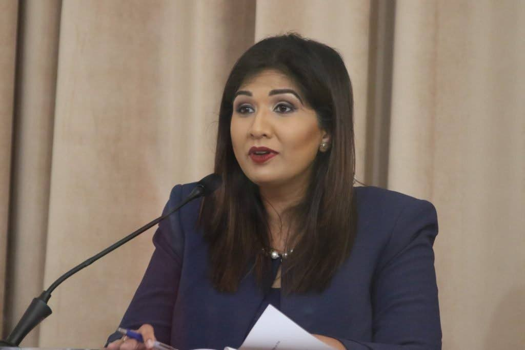 Opposition Senator Jayanti Lutchmedial.  PHOTO COURTESY OFFICE OF THE PARLIAMENT