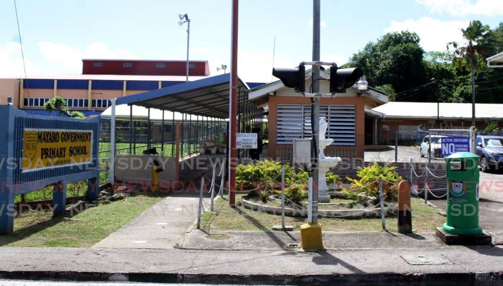 Mayaro Government Primary School where principal Andy Paul has been reinstated after a four-year suspension. Photo by Angelo Marcelle -