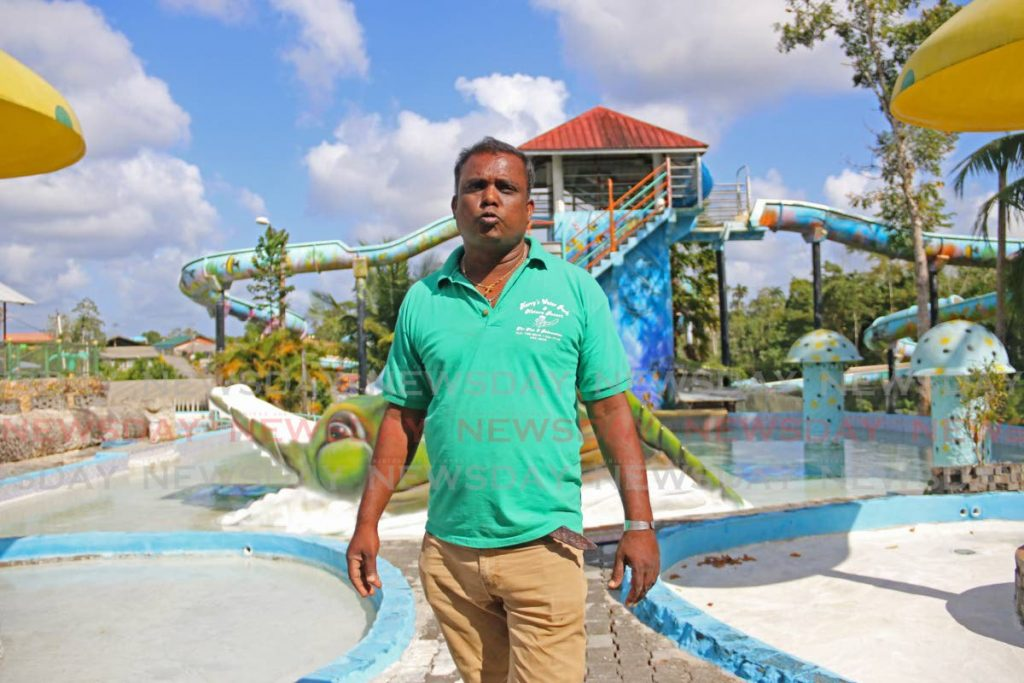 FILE PHOTO: Harripersad Ragoonanan, owner of Harry's Water Park, Tabaquite, speaks to Newsday at his facility in January. - Marvin Hamilton