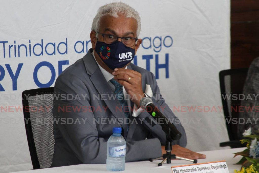 Minister of Health Terrence Deyalsingh . Photo by Marvin Hamilton