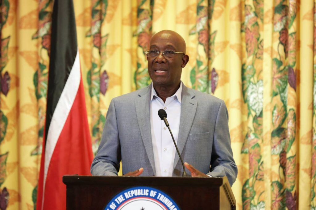 Prime Minister Dr Keith Rowley. Photo courtesy Office of the Prime Minister -