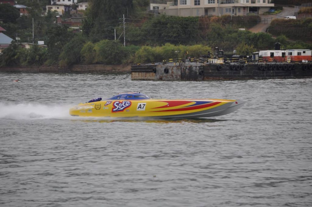 Mr Solo, during a powerboat event at the Gulf of Paria. - Ronald Daniel