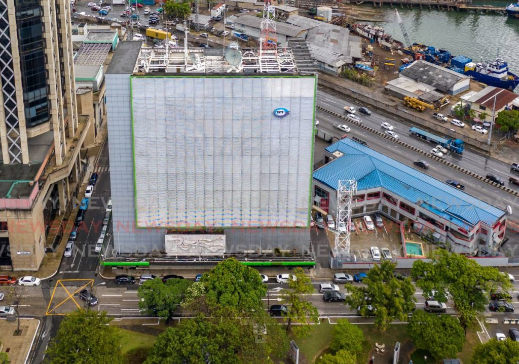 A view of TSTT House in Port of Spain. - File photo