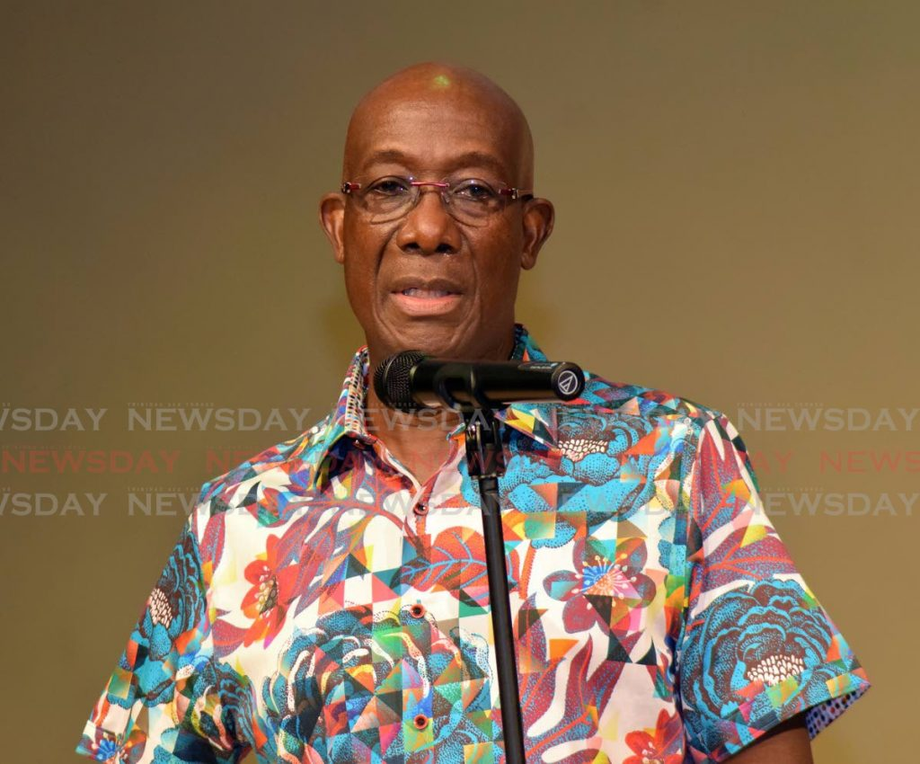Prime Minister Dr Rowley. Photo by Vidya Thurab