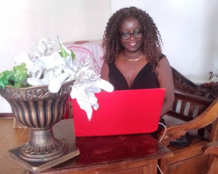 Pageant founder and entrepreneur Pearl Williams as she receives her virtual award from the global network Women Appreciating Women.