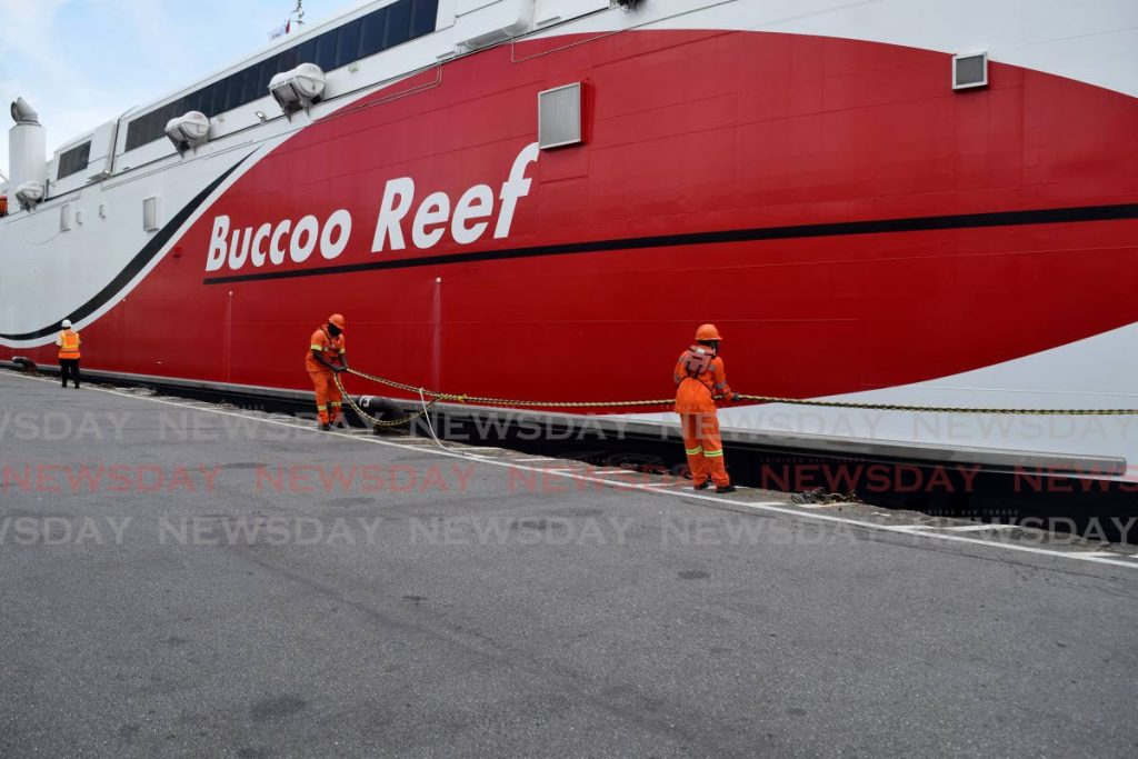 Inter-island catamaran Bucco Reef as it docked at the Port Authority Cruise Ship Complex. - Photo by Vidya Thurab