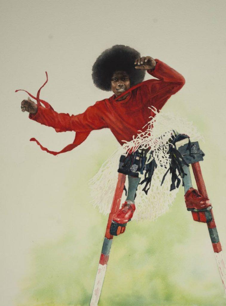 Moko Jumbie by Lindon Mitchel -