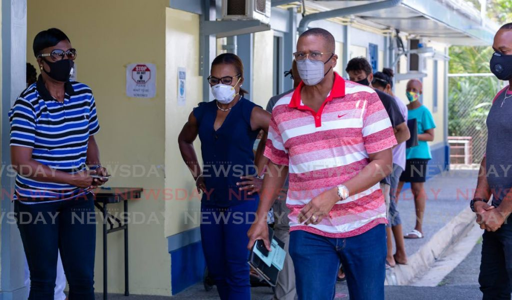 Chief Justice Ivor Archie was one of the people who turned up at the Canaan Health Centre in Tobago to get his covid19 vaccine on Wednesday. - Photo by David Reid