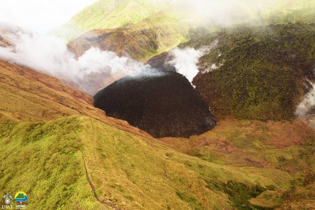 The La Soufriere volcano in St Vincent. PHOTO COURTESY UWI'S SEISMIC RESEARCH CENTRE - UWI SRC