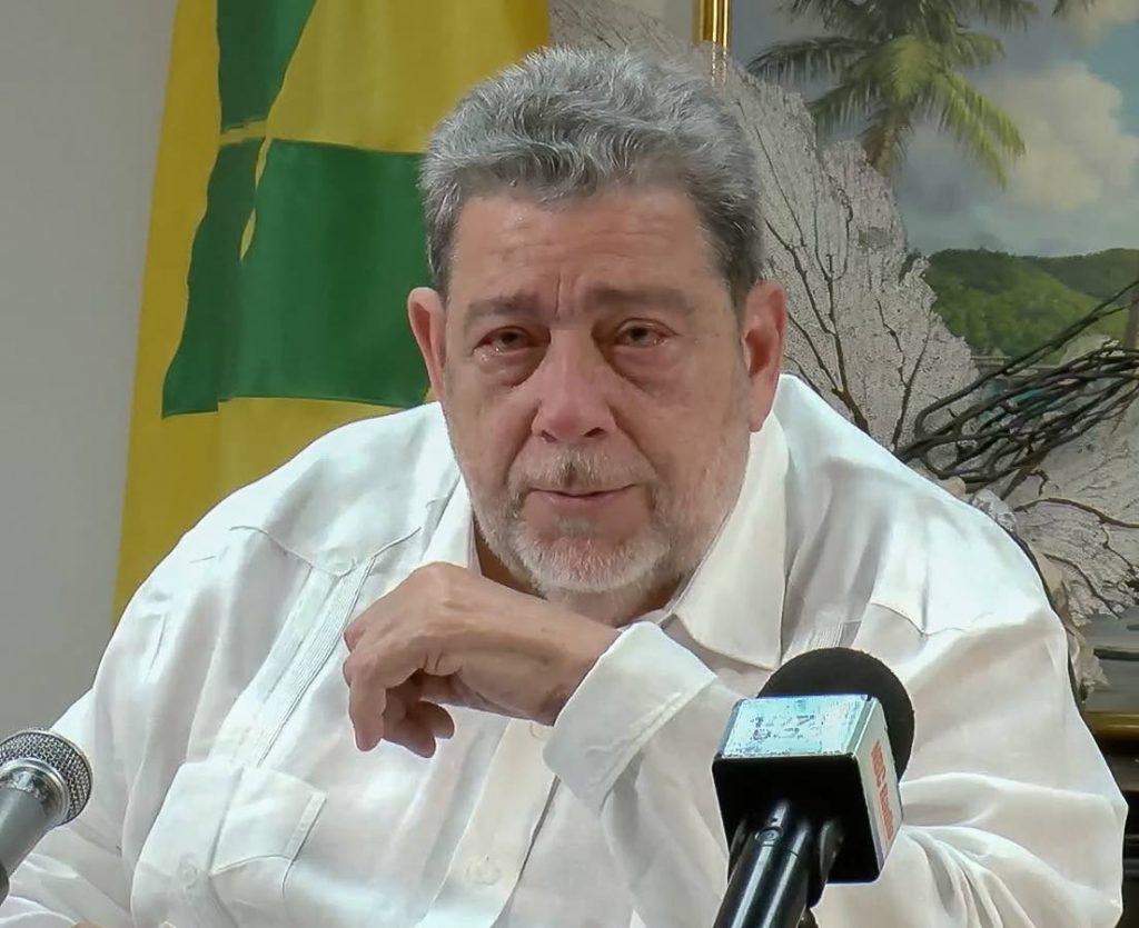 St Vincent and the Grenadines Prime Minister Dr Ralph Gonsalves. -