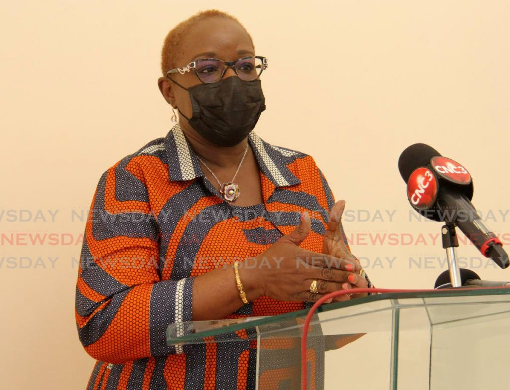Minister of Planning and Development Camille Robinson-Regis.  Photo by Ayanna Kinsale -