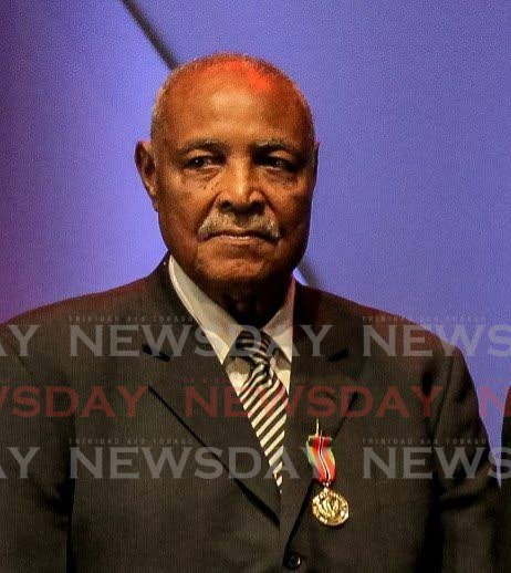 Retired Maj Gen Ralph Brown, a former manage of the TT national football team. -