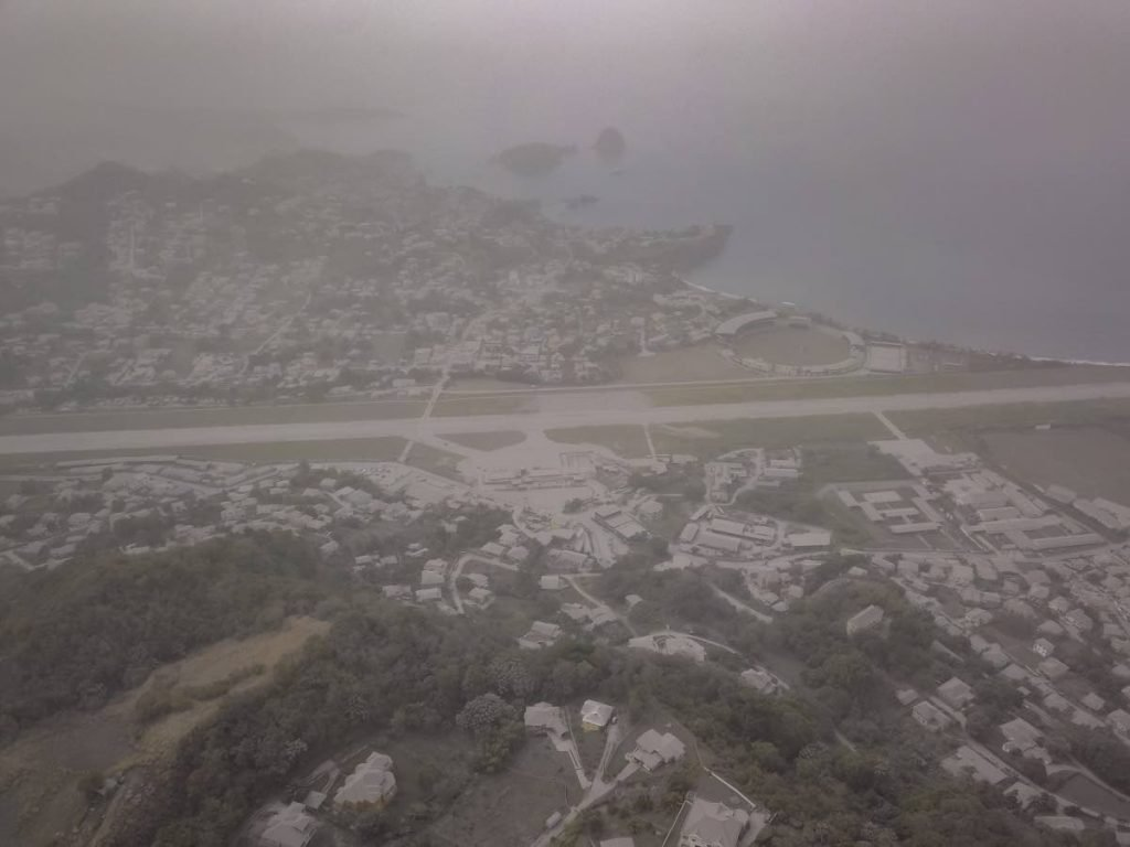 Aerial image of Arnos Vale overlooking the old, decommissioned airport ET Joshua airport, St Vincent and the Grenadines. PHOTO COURTESY VIRAD PETERS -