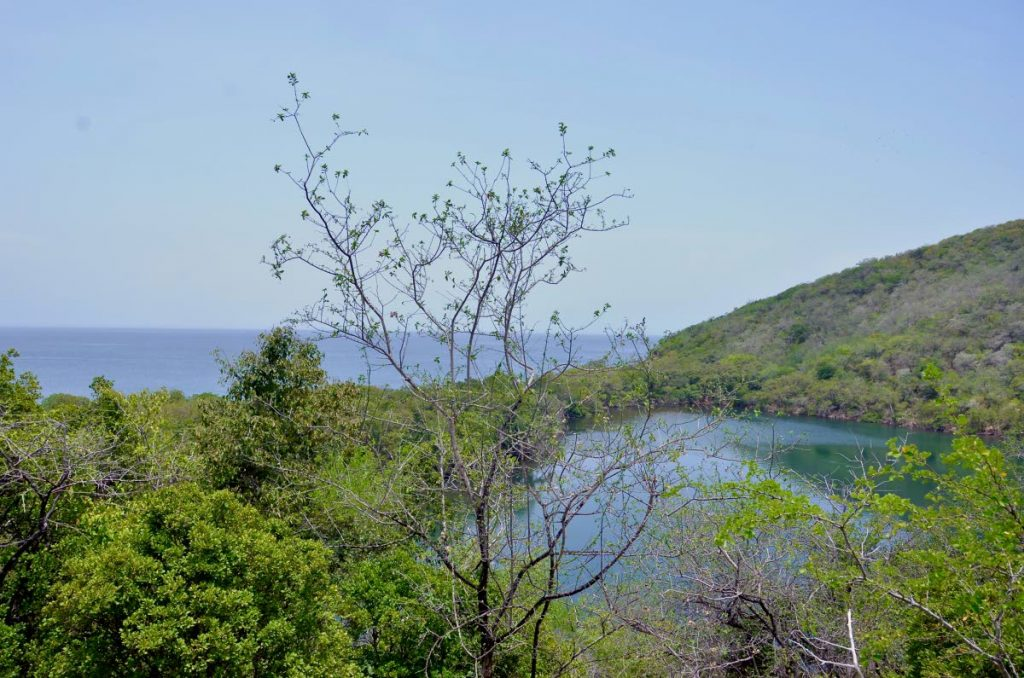 Overview of the salt pond on Chacachacare and the neighbouring bay.  - Nicholas Marsan