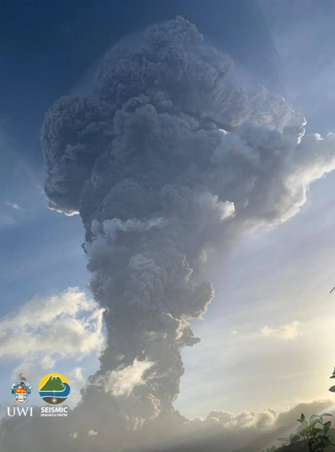 The La Soufriere volcano.  PHOTO COURTESY THE UWI SEISMIC RESEARCH CENTRE -