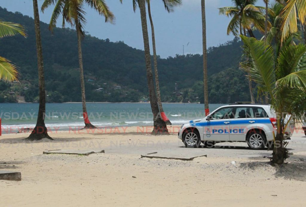 Police patrol Maracas Bay to enforce the most recent public health restrictions, including the closure of beaches, announced by the Government in response to a spike in covid19 cases.  - ROGER JACOB