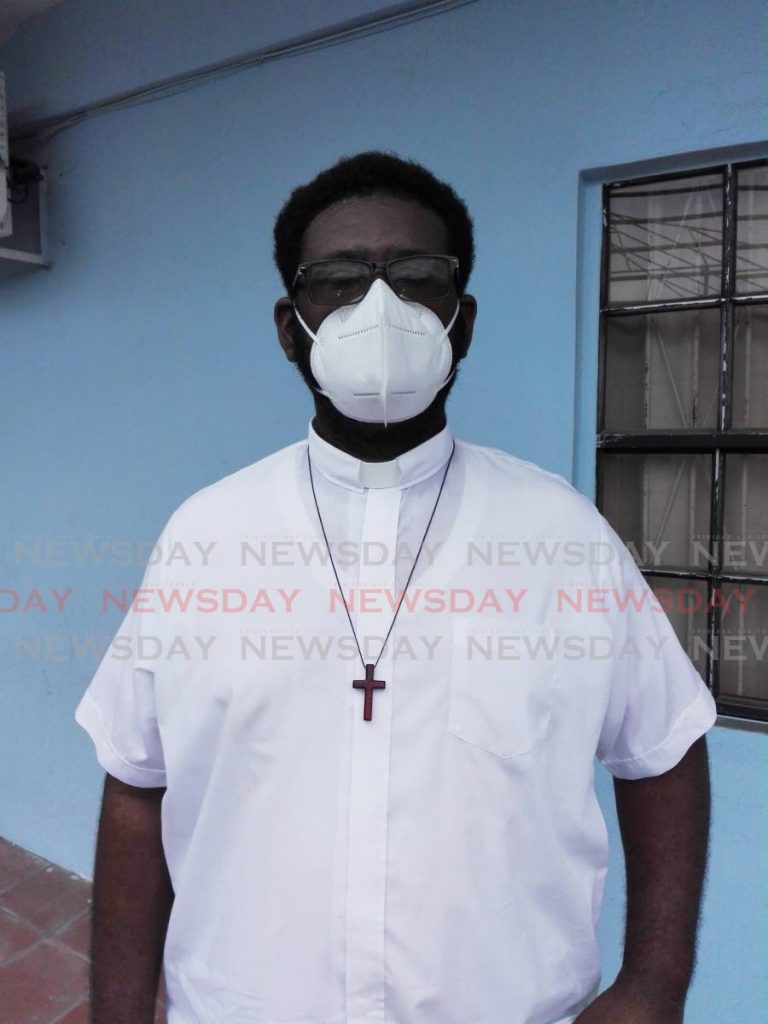 STAYING PUT: Trini-born priest Fr Collin Jackson who says he wants to remain in St Vincent despite the clear and present danger of the La Soufriere volcano. PHOTO BY STEPHON NICHOLAS -